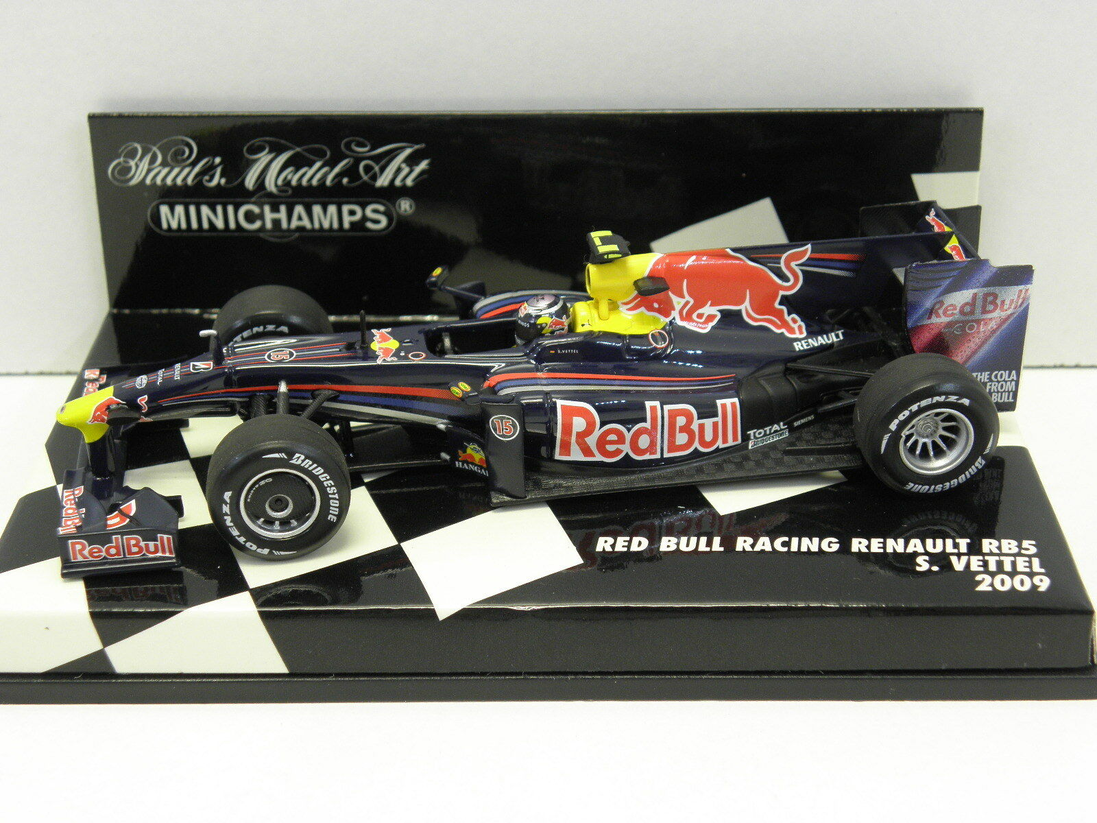 Minichamps 400090015 stand modèle rouge Bull racing renault ma grosse 2009 M. 1 43