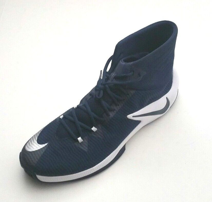 Nike Men's 856486-442 Zoom Clear Out TB Basketball schuhe Navy Weiß Größe 17.5