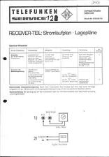 Telefunken Original Service Manual für  compact studio 5003 hifi Receiver-Teil