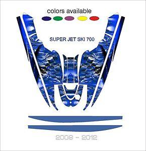 YAMAHA SUPERJET 700 jet ski wrap graphics pwc stand up jetski decal kit SUPER A1