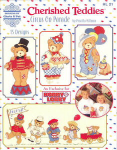CHERISHED-TEDDIES-CROSS-STITCH-PATTERNS-Crafts-Book-Teddy-Bear