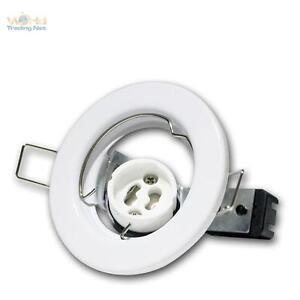 GU10-Einbaustrahler-Einbaurahmen-WEISS-Einbauleuchte-GU-10-230V-fuer-Decken-Spot