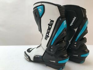 Spada-Curve-Evo-Leather-Motorcycle-Boots-Waterproof-Race-Sports-Blue-white-7-5