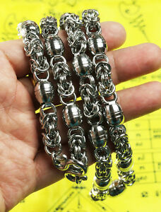 """BIG 5 HOOK THAI BUDDHIST AMULET PENDANTS 28/"""" STAINLESS STEEL NECKLACE CHAIN 10MM"""
