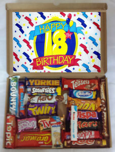 Details About 18th Birthday Present Celebration Luxury Chocolate Gift Box Selection Hamper