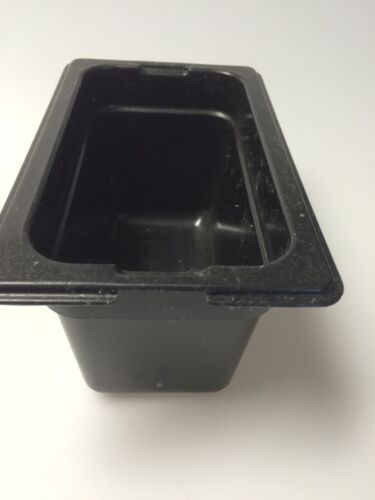 "4/"" deep Carlisle Top Notch 1//9 pan NSF Black plastic"