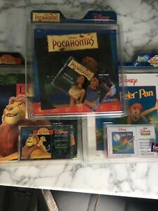 DISNEY-READ-ALONGS-x3-PETER-PAN-POCAHONTAS-THE-LION-KING-vintage-CASSETTE-TAPE
