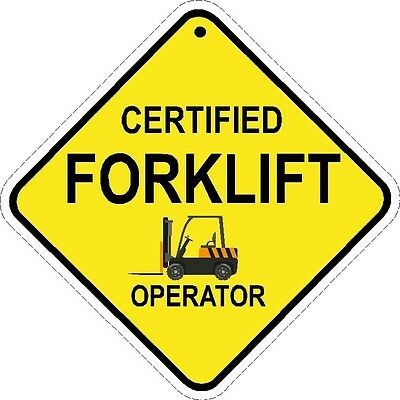 FORKLIFT OPERATOR  forklift safety trained hard hat decal  forklift tow motor