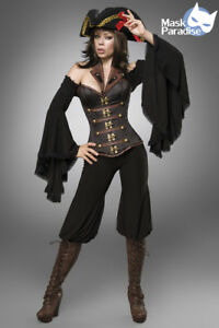 Piraten-Kostuem-Female-Gothic-Fasching-Karneval-Damen-Verkleidung-Halloween-NEU