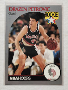Drazen Petrovic 1990-91 Hoops #248 RC Rookie Card Best European Player History