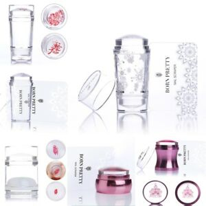 Born-Pretty-Clear-Jelly-Chess-Nail-Art-Stamper-Nails-Stamping-Stamp-Scraper-Set