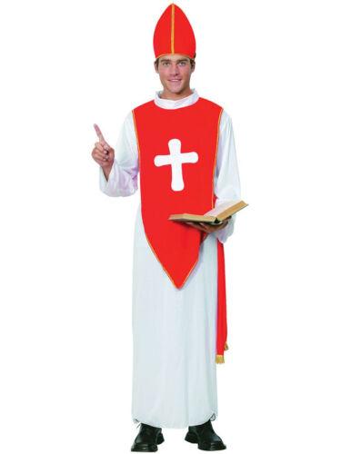 Homme évêque saint curé CARDINAL PAPE religous fancy dress costume outfit new