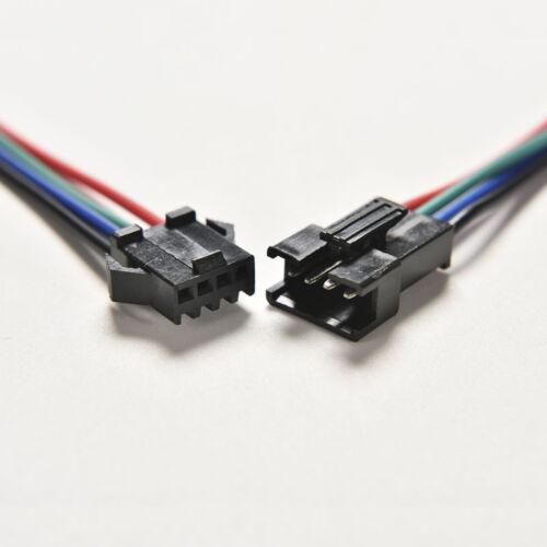 20x mâle femelle connecteur 4pin avec fil pour 5050//3528 RGB LED Driver//Strip/_fr
