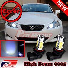 2 x HB3 9005 Canbus Error Free 6K CREE LED Headlight Bulbs DRL High Beam Decoder