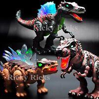 Walking Dinosaur Light-up Toy T-rex Spinosaurus Led Roaring Sound Jurassic