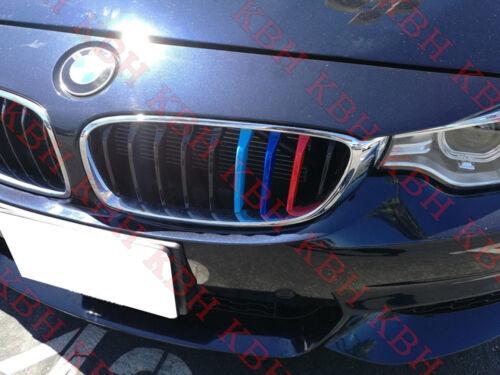 Ajuste DE BMW 4 Series F32 F33 14-17 Riñón Rejilla M Sport 3 color de la cubierta del clip de rayas