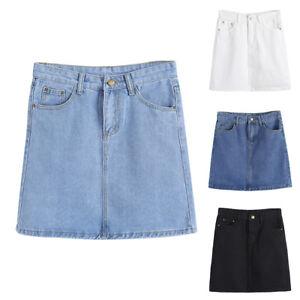 CO-Women-Fashion-Party-High-Waist-Bodycon-A-Line-Jeans-Denim-Mini-Skirt-Deluxe