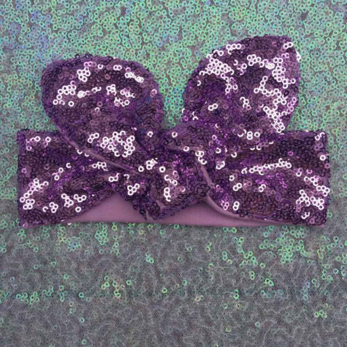 Lovely Kids Girl Baby Headband Bowknot Sequined Hair Band Accessories Headwear L