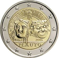 Italy Moneta Comm. 2 Euro coin Gedenkmünze Italien Italia 2016 Plauto FDC