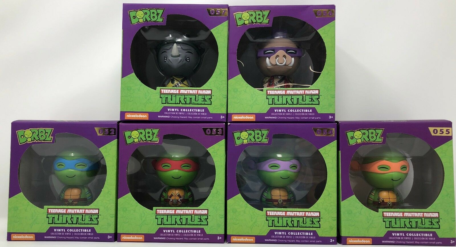 Dorbz Teenage Mutant Ninja Turtles Vinyl Sugar Collectibles 6 Bundle Set
