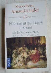 HISTOIRE ET POLITIQUE A ROME DE MP ARNAUD LINDET ED POCKET 2005 TBE