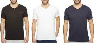 Tommy-Hilfiger-Men-Core-Flag-100-Cotton-V-Neck-Short-Sleeve-T-Shirt-NEW