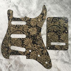 Custom-Gold-Paisley-Bakelite-Pickguard-fits-Fender-Stratocaster-Strat-style