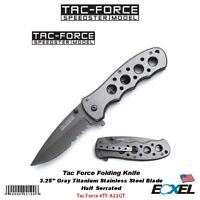 Tac Force Tf-822gt Folding Knife 4.5 Closed, Gray Titanium Ss Blade & Handle