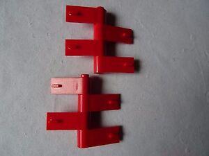 Les parties 3822 et 3821 rouge droite et gauche portes (4 paires)  </span>