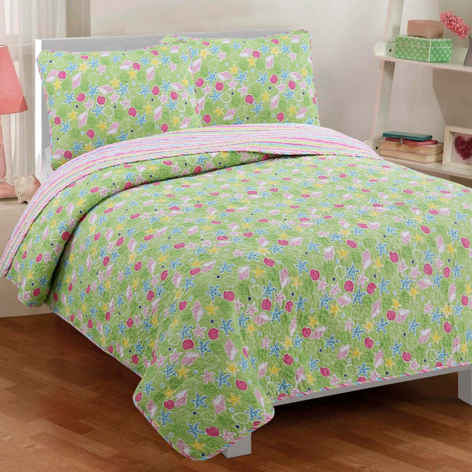 Danford Reversible Cotton Quilt Set, Bedspread, Coverlet
