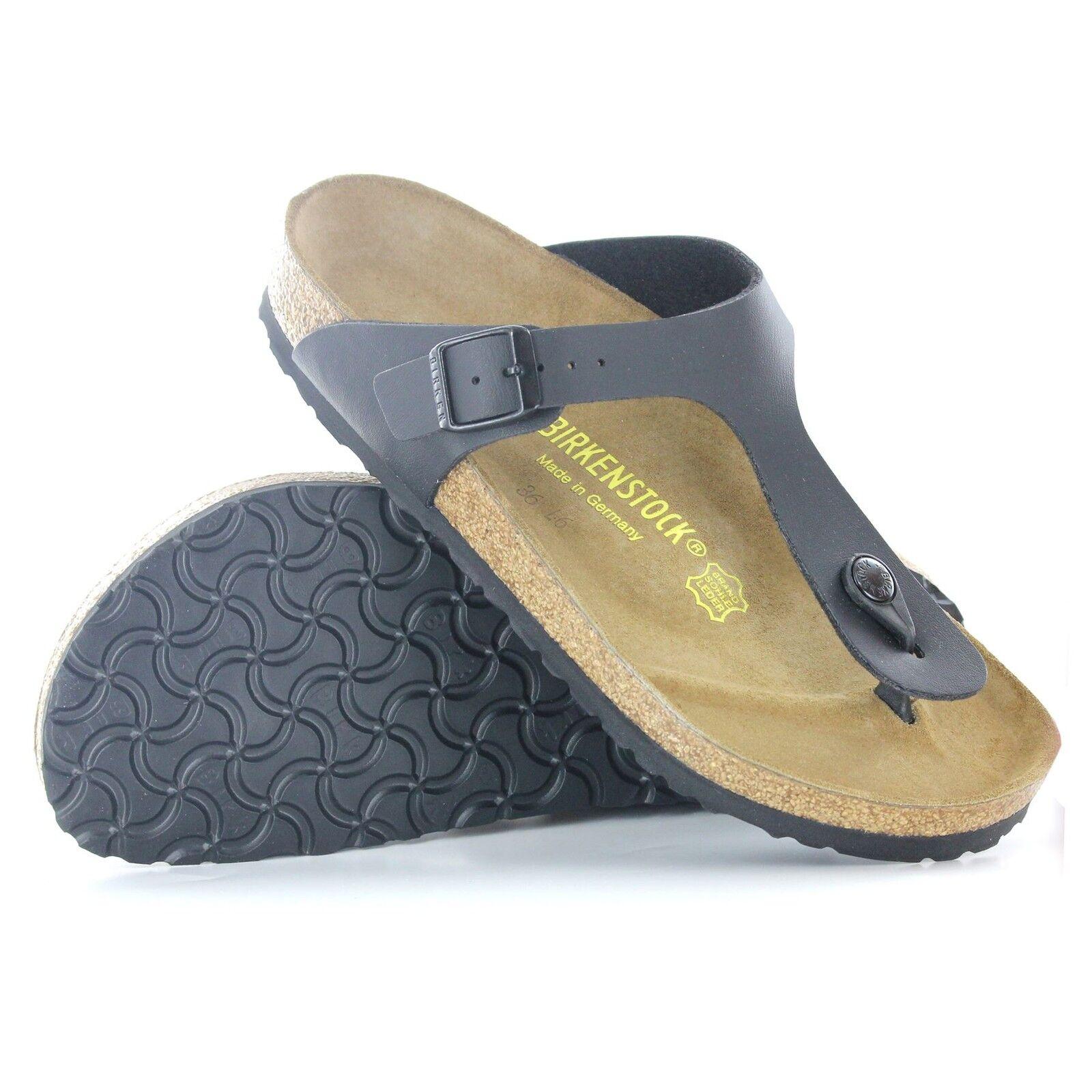 Birkenstock Gizeh Black Synthetic Mens Sandals