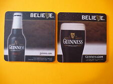 Beer Bar Coaster ~ Guinness Draught By St John's Gate, Ireland Brewery ~ Believe