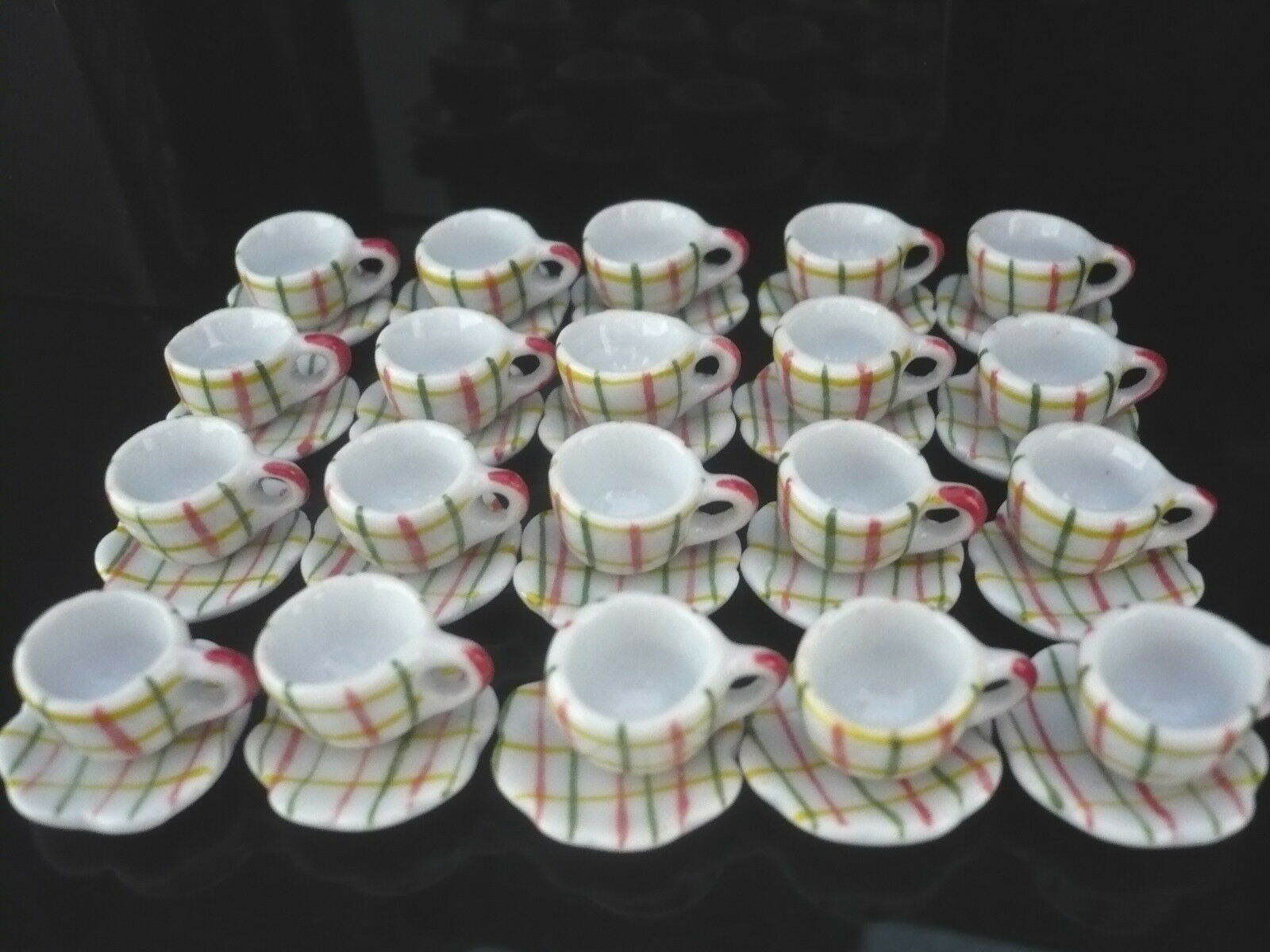 40x12 mm Mix Color Coffee cup and Saucer Dollhouse Miniatures Supply Deco
