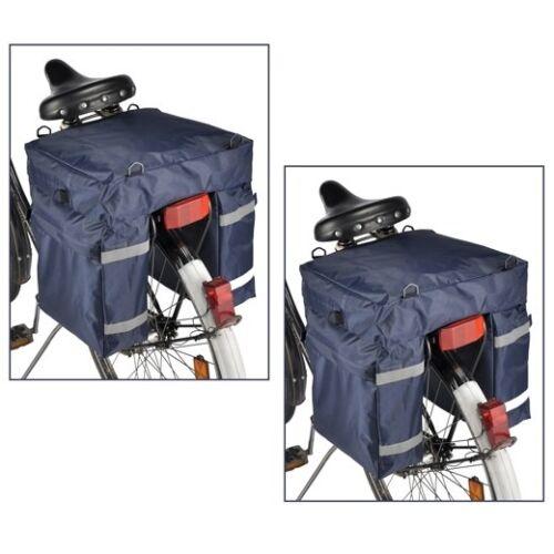 2x Fahrrad Gepäcktasche Nylon Gepäckträgertasche Fahrradtasche Radtasche Tasche