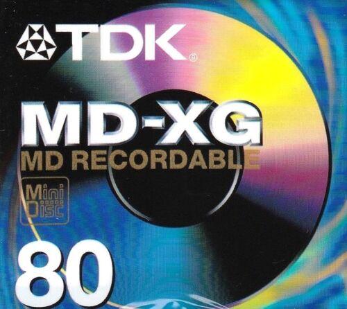 TDK MD-XG 80 MD RECORDABLE BLANK MINIDISC SEALED