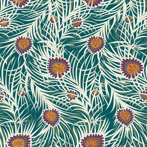 Dark Green 100/% cotton Fabric Pipers Peacock 04775653Z Liberty Hesketh House