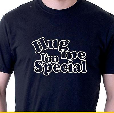 Funny t-shirt Hug me I'm special. slogan tee mens ladies SM - 4XL