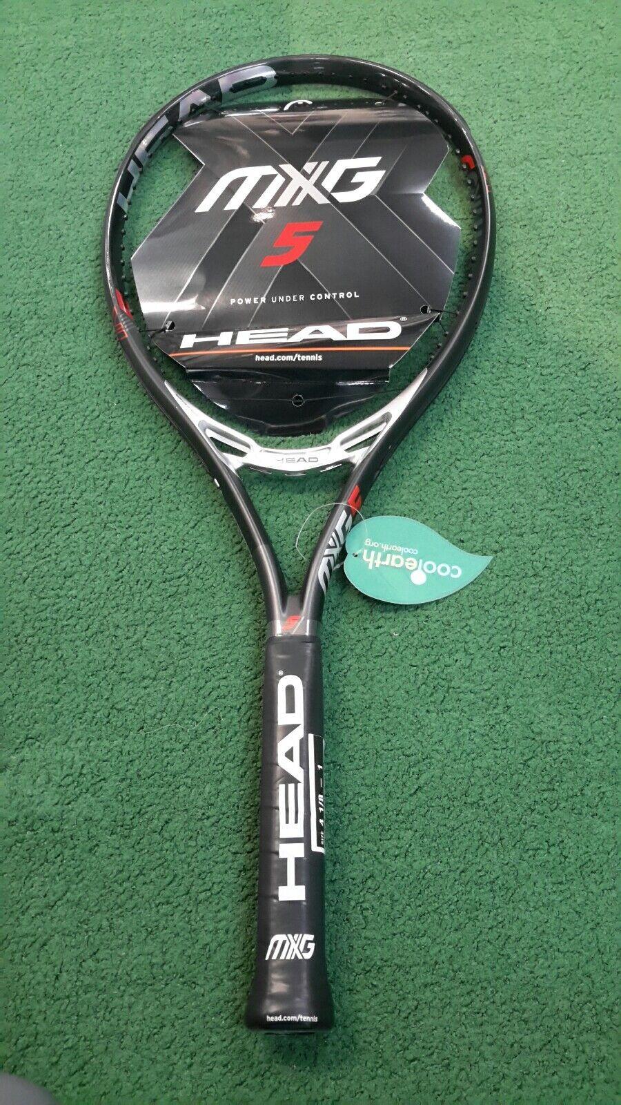 totalmente Nuevo  Mxg cabeza 5 raqueta de tenis, viene encordada