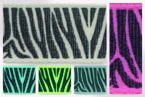 Berisford Zebra Print Ribbon per 2 metres R137771-M LL