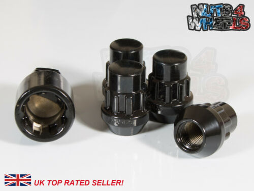 4 x Black Locking Wheel Nuts M12x1.5 Fits Hyundai Tuscon Veloster Sonata Matrix