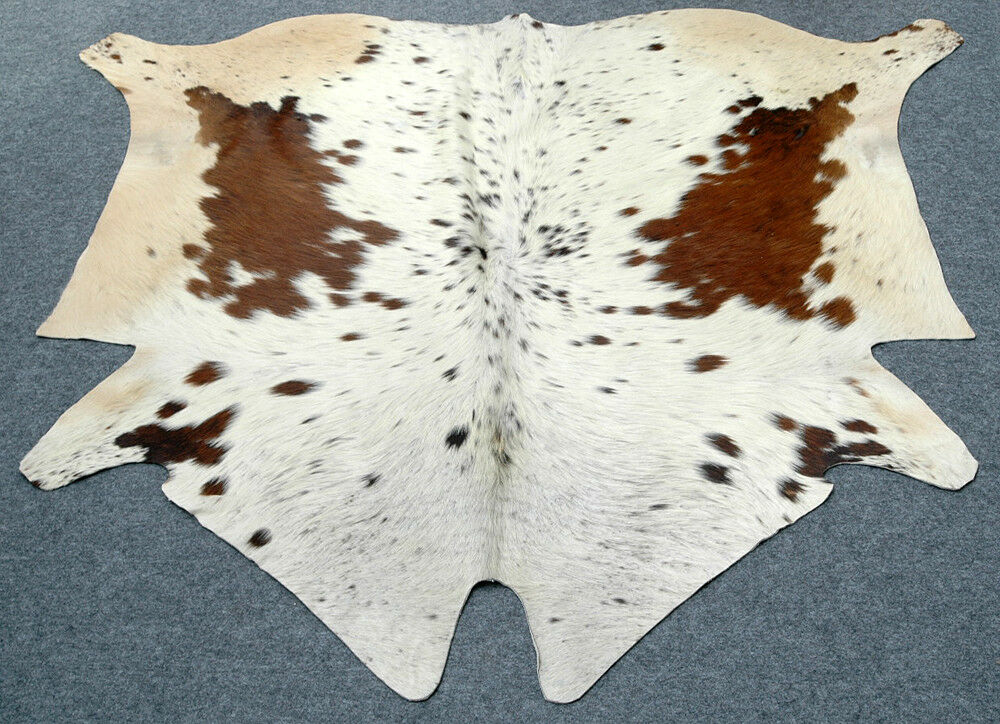 """New Cowhide Rugs Area Cow Skin Leather Cow hide ULG 5035 (57"""" X 60"""")"""