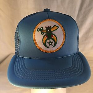 9d500b04 Image is loading VTG-Shriners-Freemason-Masonic-Blue-Trucker-Mesh-Hat-