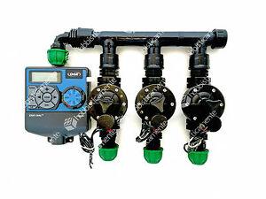 Kit irrigazione programmatore orbit 3 zone elettrovalvola for Irrigazione giardino