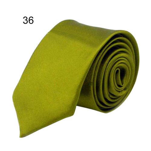 2017 Classic Skinny Men/'s Slim Tie Solid Color Plain Silk Jacquard Woven Necktie