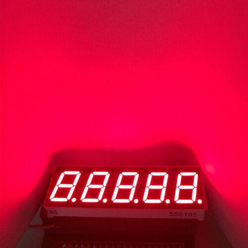 "5pcs 0.56inch 5Bits Digit LED Display Digital Module 7-Segment 0.56/"" Red Cathode"