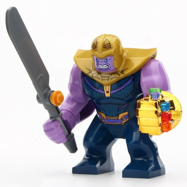 All 6 extra stones NEW Thanos Infinity War Minifigure with Infinity Gauntlet