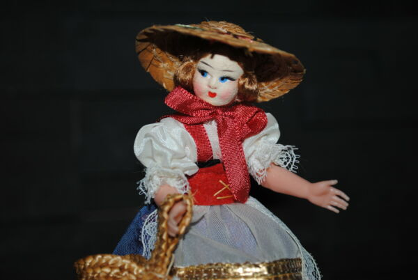(n°11) Ancienne Poupee Folklorique Doll Eros Pays Italie Rapallo