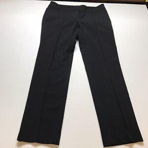 Loft Marisa Straight Black Dress Pants Size 8 A428