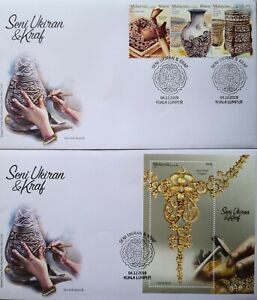 Malaysia FDC with MS & Stamps (04.12.2019) - Carving & Crafts in Malaysia