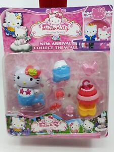 Hello-Kitty-Mermaid-Play-Set-Figure-Costume-change-accessories